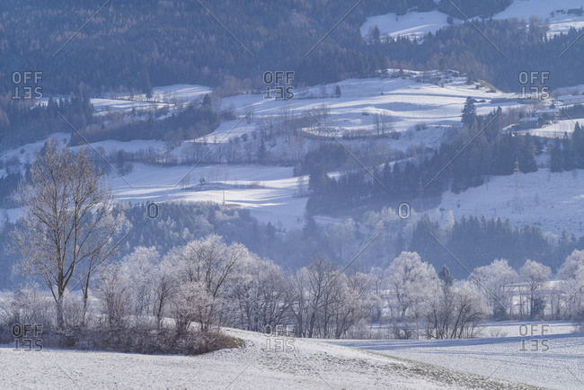 Austria, Styria, Oblarn, winter landscape