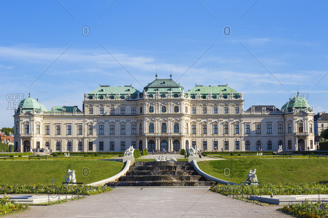 June 14, 2017: Austria, Vienna, The Belvedere Palace