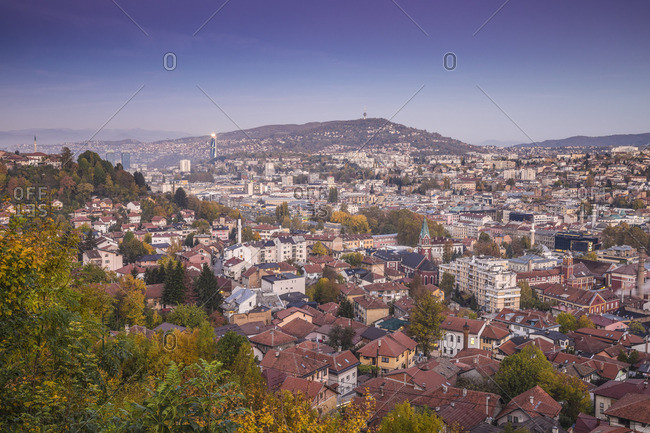 Bosnia and Herzegovina, Sarajevo, View of City