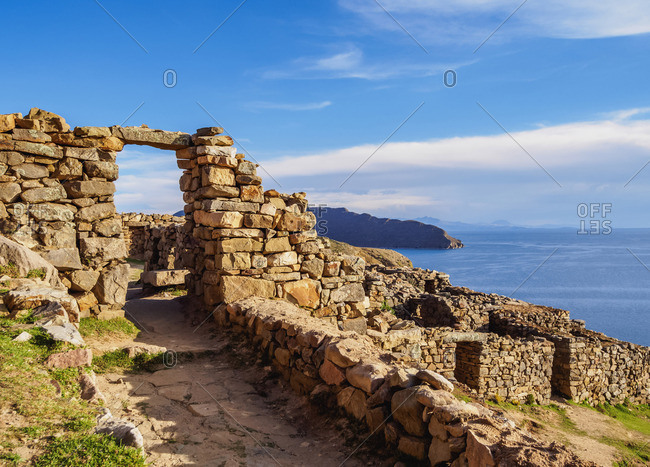 Chinkana Ruins, Island of the Sun, Titicaca Lake, La Paz Department, Bolivia