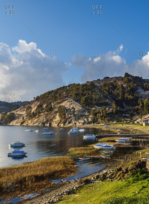February 4, 2017: Challa Pampa Village, Island of the Sun, Titicaca Lake, La Paz Department, Bolivia