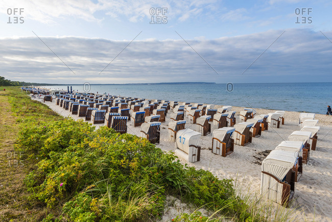 Rugen Island - July 18, 2017: Rugen Island, Baltic coast, Mecklenburg-Western Pomerania, Germany.