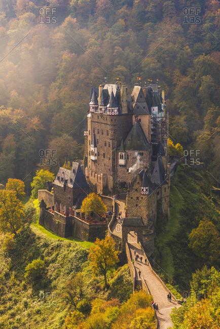 Eltz Castle, Wierschem, Mayen-Koblenz, Rhineland-Palatinate, Germany.