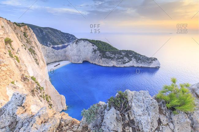 Greece, Ionian Islands, Zakynthos, Navagio (shipwreck) beach