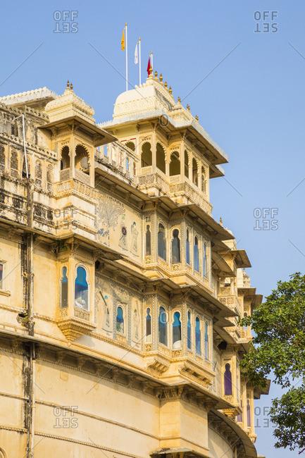 November 16, 2017: Shiv Niwas hotel, City Palace, Udaipur, Rajasthan, India