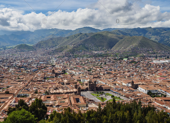 Old Town, elevated view, Cusco, Peru