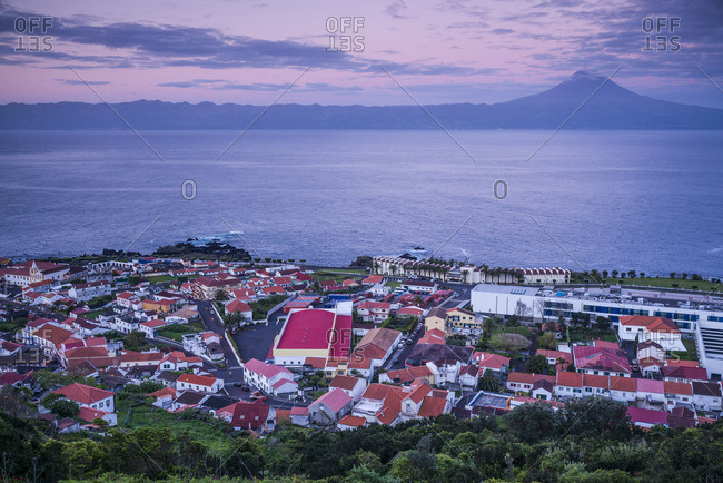 Portugal, Azores, Sao Jorge Island, Velas, dawn
