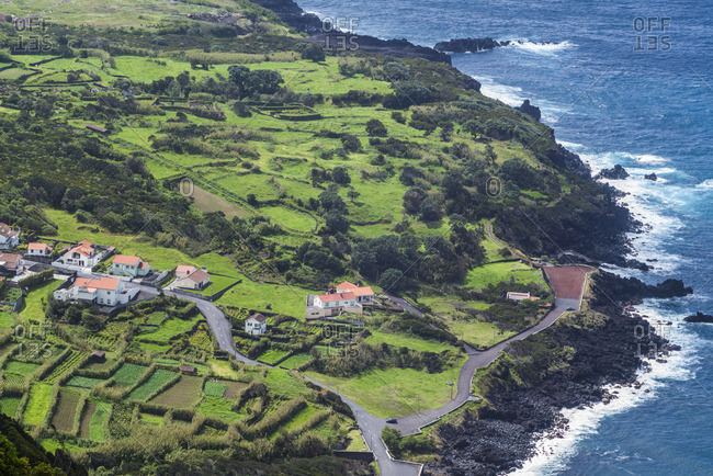 Portugal, Azores, Faial Island, Baia de Ribeira of Porto da Faja