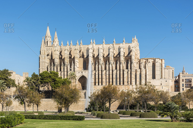 The Cathedral of Santa Maria of Palma or Catedral de Santa Maria de Palma de Mallorca, Palma, Majorca, Balearic Islands, Spain
