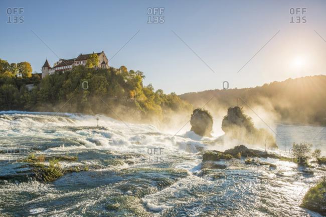 Rhine Falls (Rheinfall) and Laufen Castle, Schaffhausen, Switzerland.