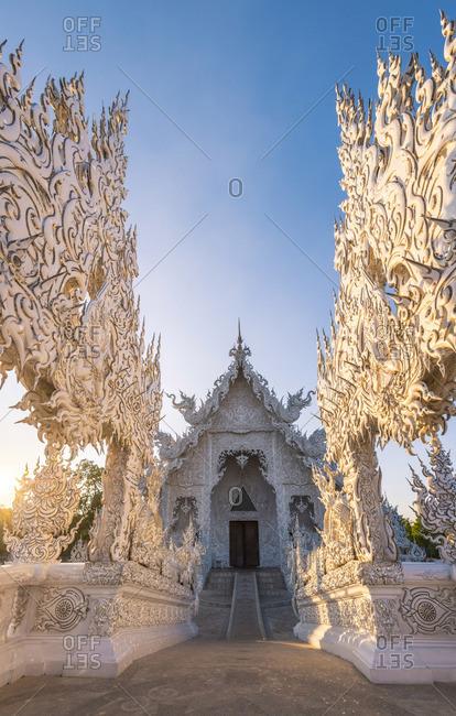December 4, 2017: Wat Rong Khun (White Temple), Chiang Rai, Thailand.