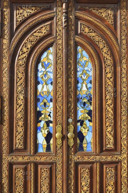 Door of the Amir Timur Museum. Tashkent, Uzbekistan