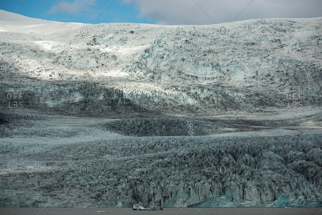 Huge glacier in the Skaftafell wilderness area in Iceland