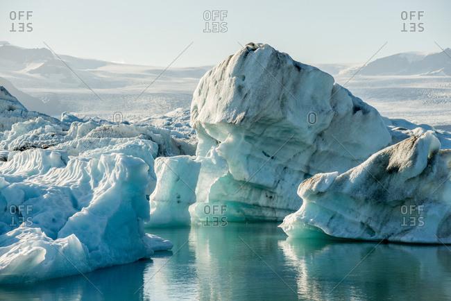 Icebergs in Fjallsarlon Lagoon in Iceland
