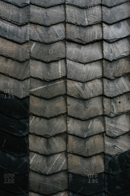 Gray flag brick roof