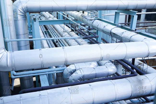 Exterior industrial pipe system