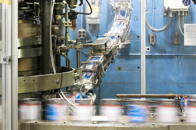 East Hanover, New Jersey - November 29, 2017: Production line in motion