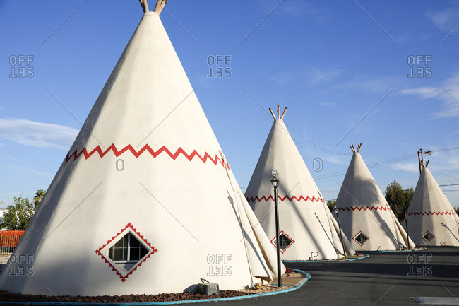 Teepees on Route 66 historic motel
