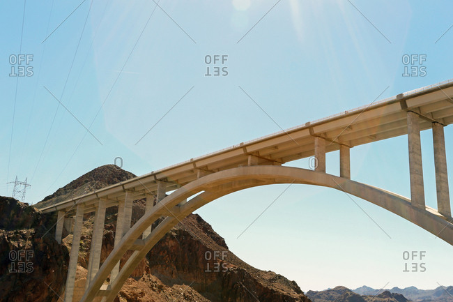 Bridge at the Hoover Dam, on the border between Nevada and Arizona