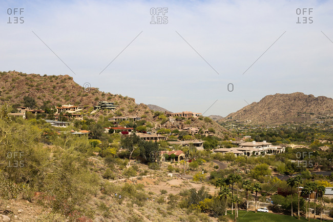 Hillside homes in Scottsdale, Arizona
