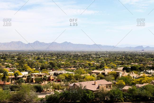 Elevated view of Scottsdale, Arizona