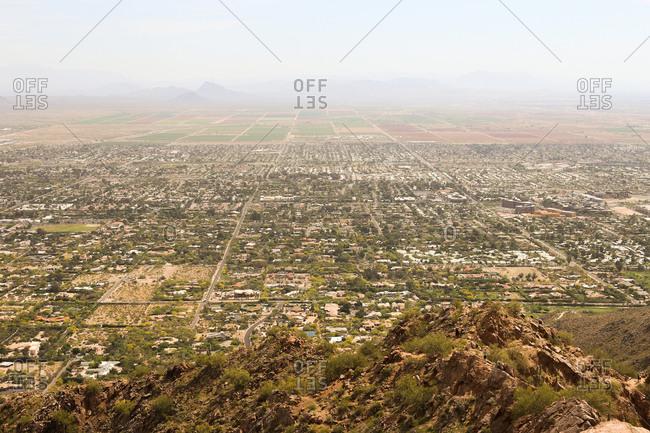 Aerial view of Scottsdale, Arizona