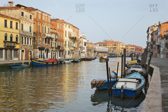 Italy, Venice - May 22, 2006: View of Grand Canal and boats