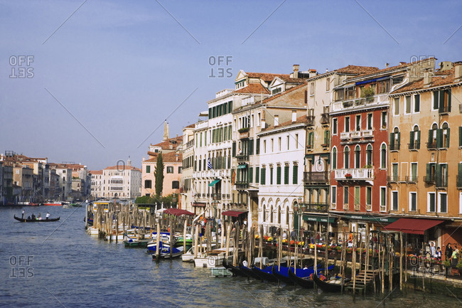 Italy, Venice - May 21, 2006: View of Grand Canal and boats