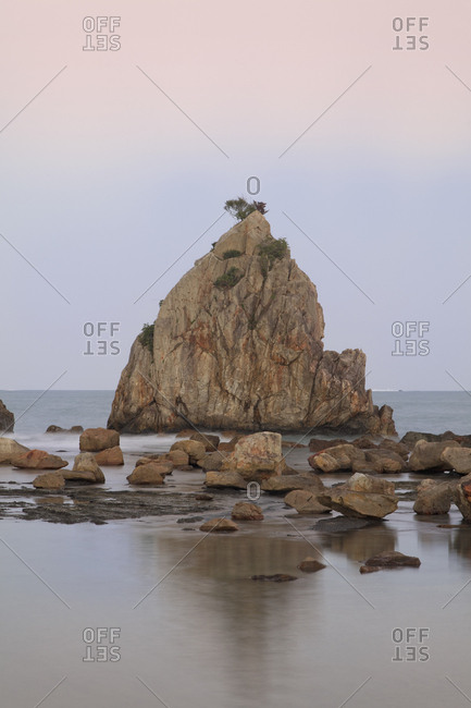 Asia, Japan, Wakayama Prefecture, Landscape of Hashiguiiwa Rocks
