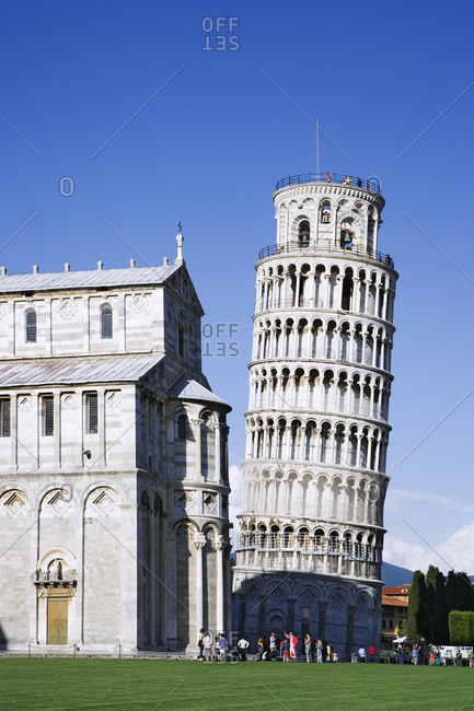 Italy, Pisa, Leaning Tower and Pisa Cathedral