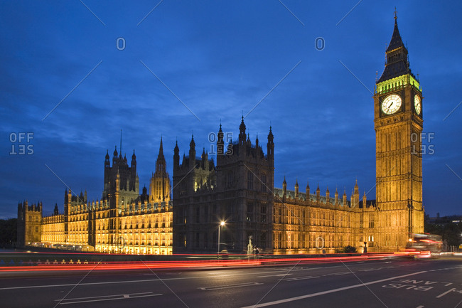 England, London, Big Ben and Palace of Westminster