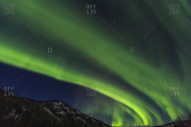 Aurora Borealis, Northern Lights, Near Fairbanks, Alaska Stock Photo    OFFSET