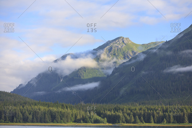 Scenic views near town of Tenakee Springs, Tenakee Inlet, Inside Passage, Southeast Alaska, USA