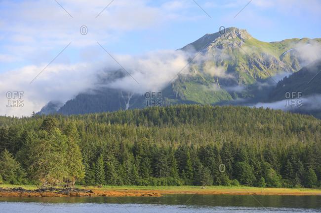 Scenic views near town of Tenakee Springs, Tenakee Inlet, Inside Passage, Southeast Alaska, USA