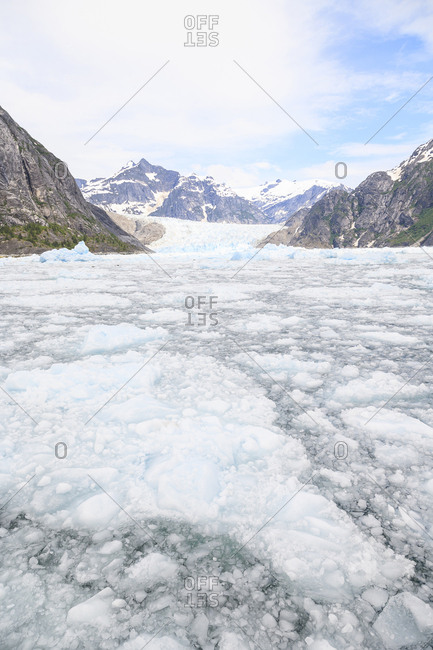 Le Conte Glacier, Southernmost Glacier in Southeast Alaska near Petersburg, USA