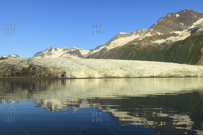 Harriman Fjord, Chugach Mountains, Chugach National ForeSt. Prince William Sound, Alaska