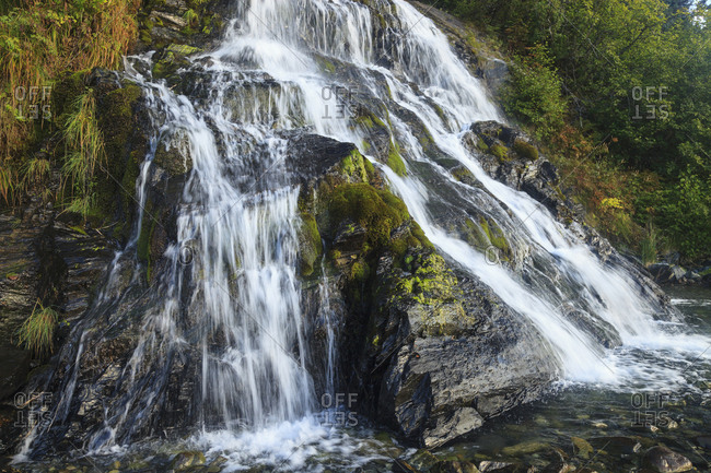Waterfall near Smith Glacier, College Fjord, Prince William Sound, Alaska