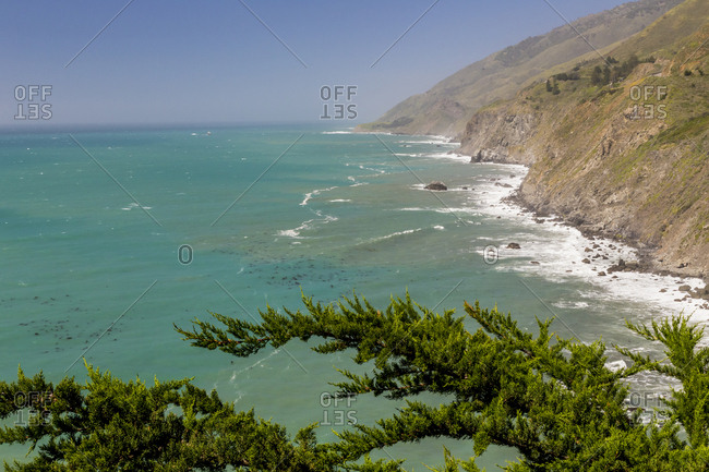 USA, California, Big Sur, Ragged Point landscape