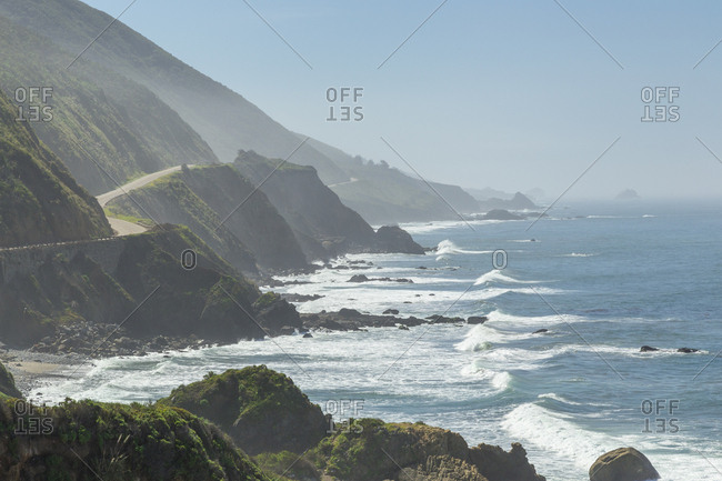 USA, California, Big Sur, Highway 1 on California coast
