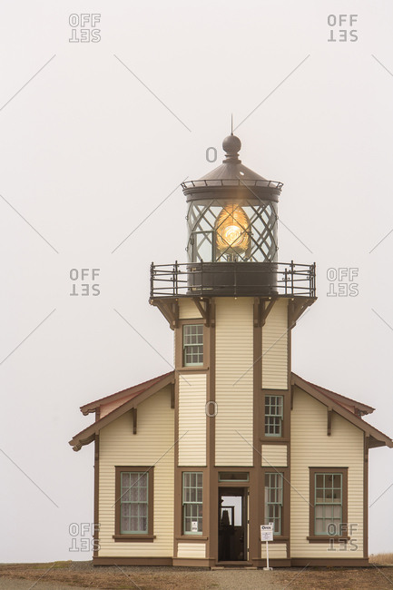 Point Cabrillo Lighthouse and Marine Preserve, near Mendocino Northern California coast USA