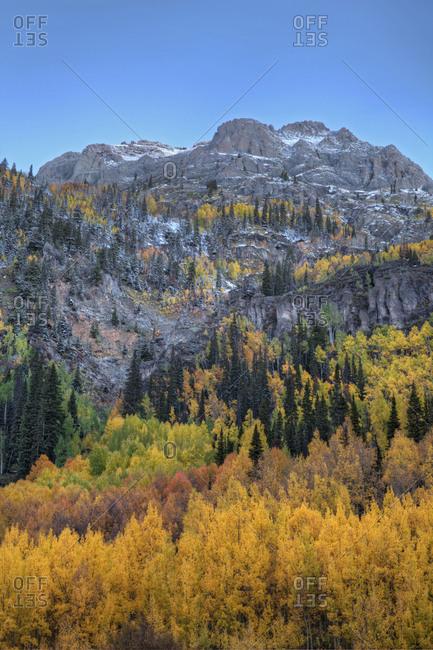 USA, Colorado, Autumn color in the San Juan Mountains, Colorado