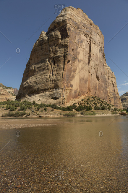 USA, Colorado, Dinosaur National Monument, Steamboat Rock and Green River