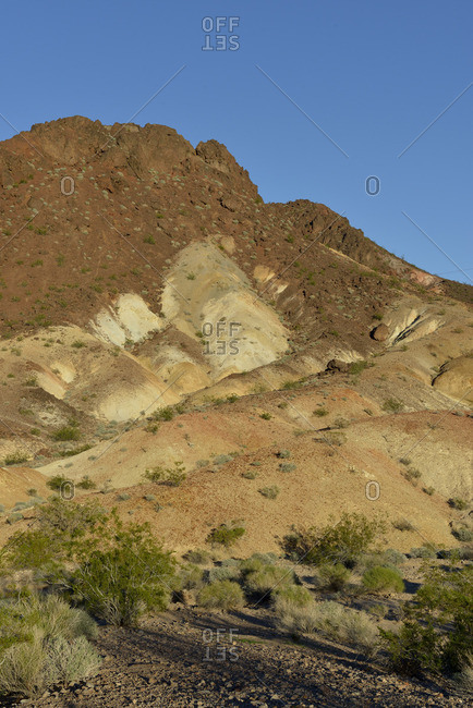 USA, Nevada, Lake Mead, eroded cliffs above the Historic Railroad Trail