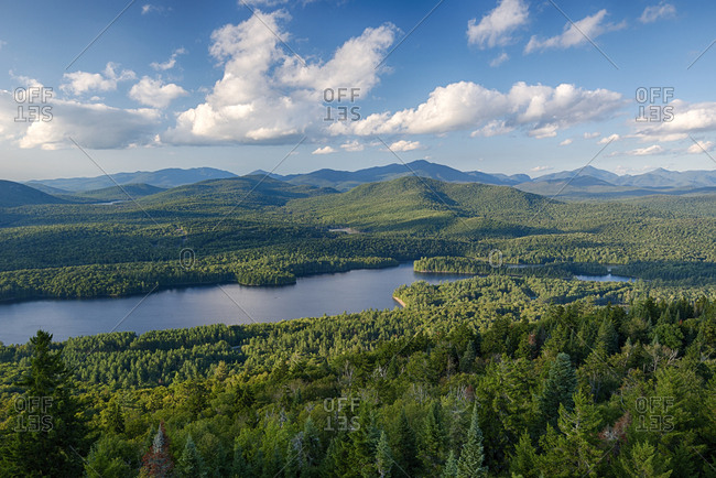 USA, New York State, View from Goodnow Mountain, Adirondack Mountains