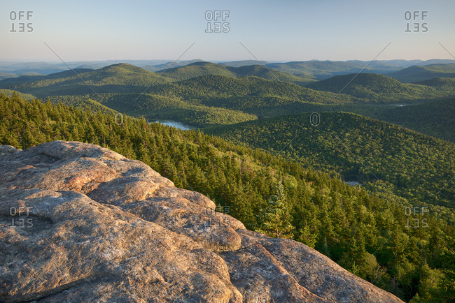 USA, New York State, View from Crane Mountain, Adirondack Mountains