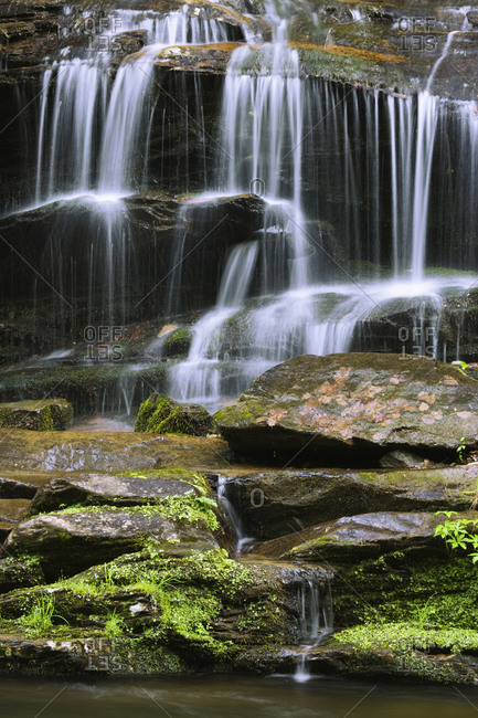 USA, Tennessee, Great Smoky Mountains National Park, Waterfall
