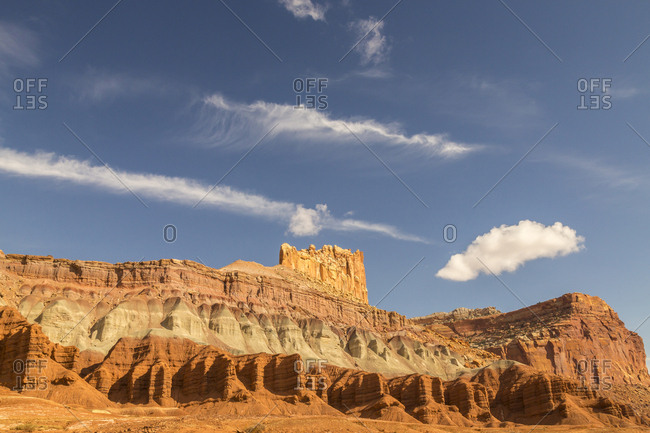 USA, Utah, Capitol Reef National Park, Rock formations