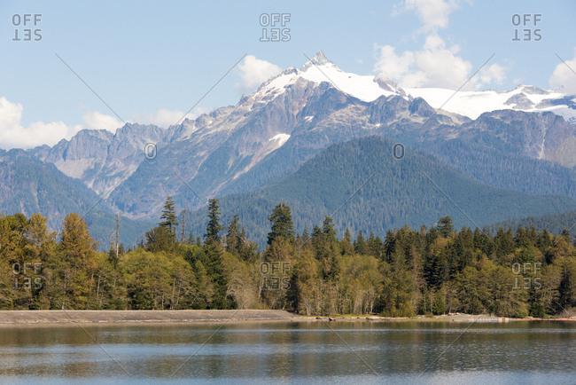 USA, Washington State, Mt, Shuksan North Cascades from Depression Lake