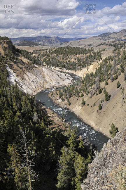Yellowstone National Park, Wyoming, USA, A scenic view of the Yellowstone River