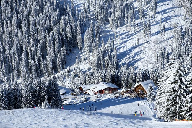 December 29, 2017: Austria- Tyrol- Ziller Valley- Hochfuegen- Ski area- Montana Alp- Aar Alp